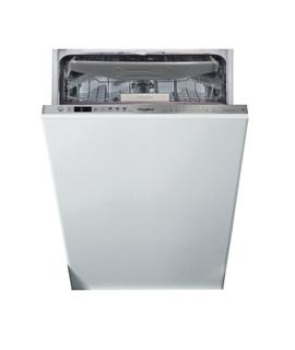 Whirlpool beépíthető mosogatógép: Inox szín, keskeny - WSIO 3O34 PFE X