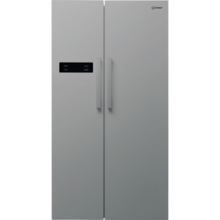Indesit side-by-side american fridge: silver color