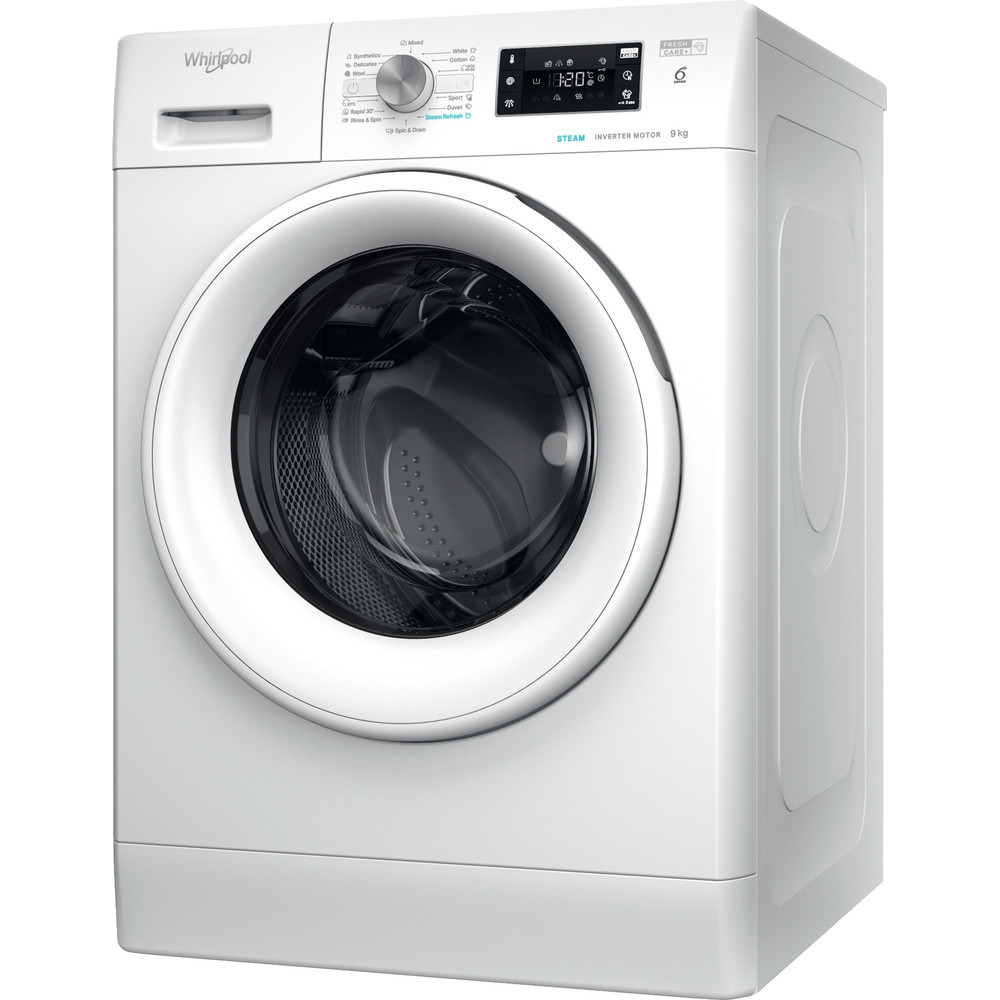 Whirlpool frontmatet vaskemaskin: 9,0 kg - FFB 9638 WV EU