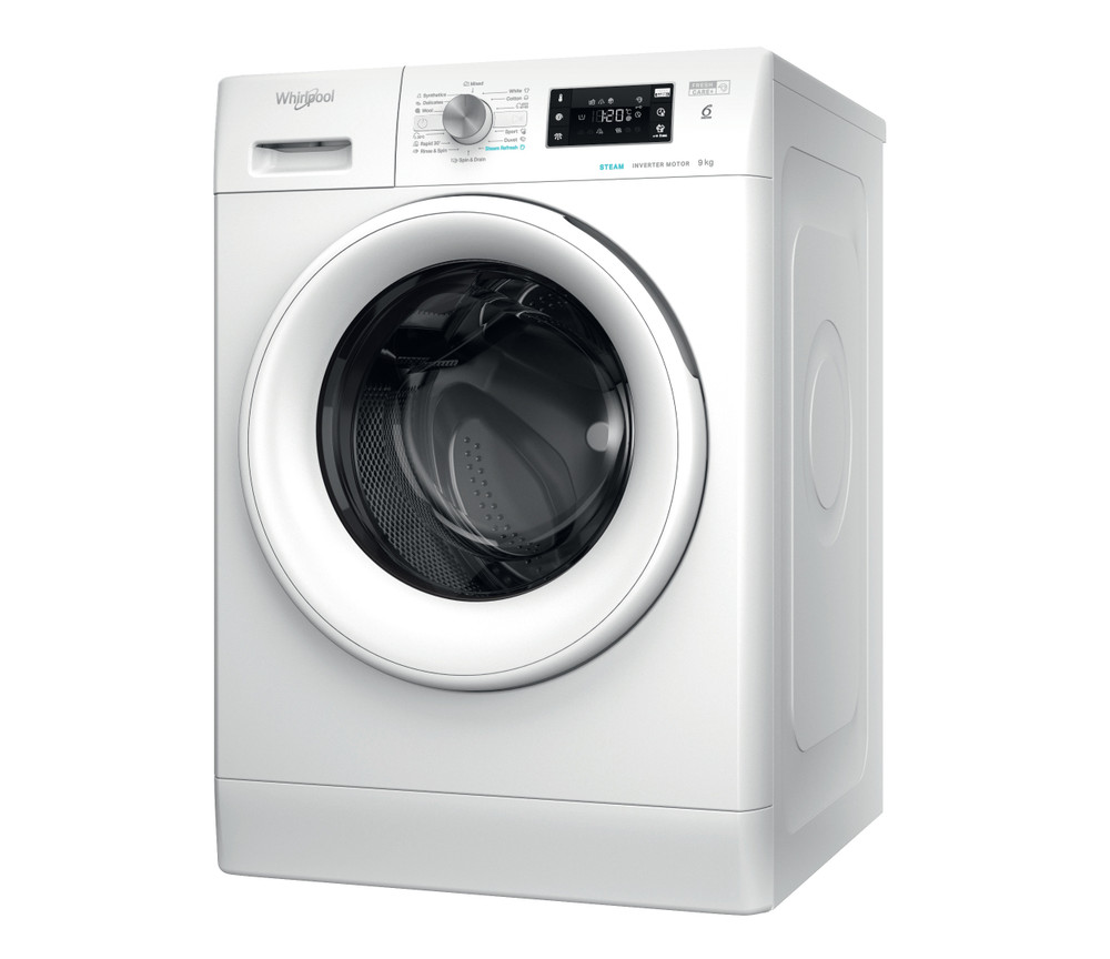 Whirlpool Перална машина Свободностоящи FFB 9448 WV EE Бял Предно зареждане C Perspective