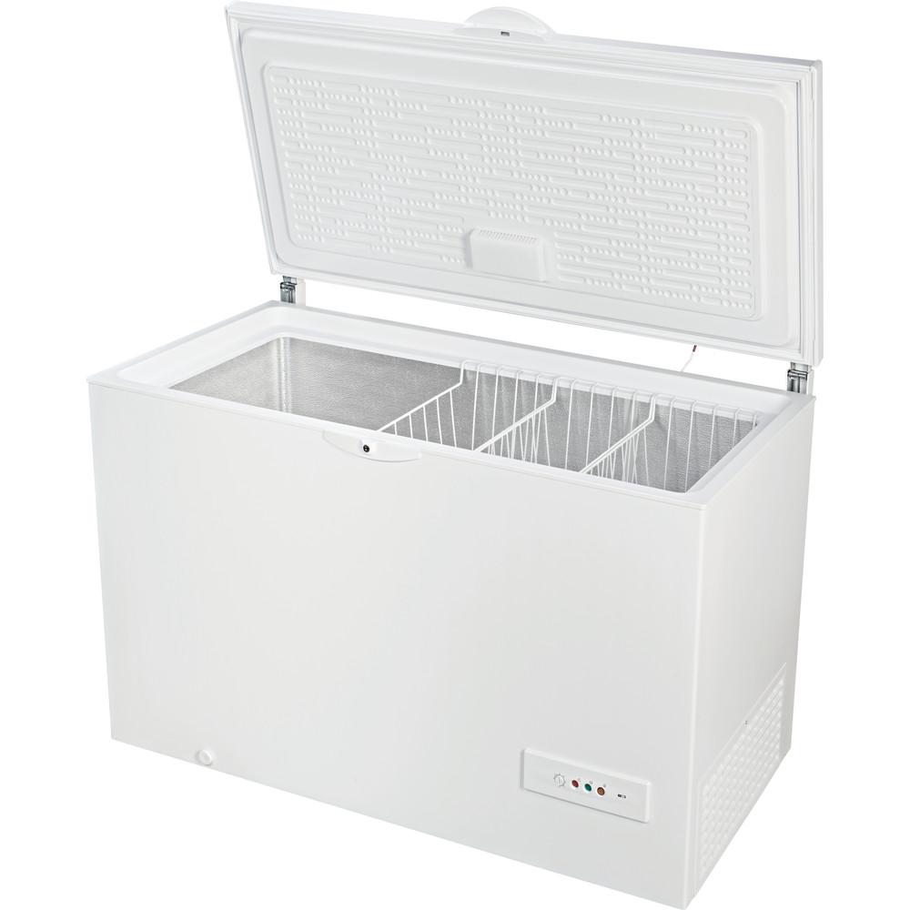 Indesit Congelador Livre Instalação OS 1A 400 H 1 Branco Perspective open