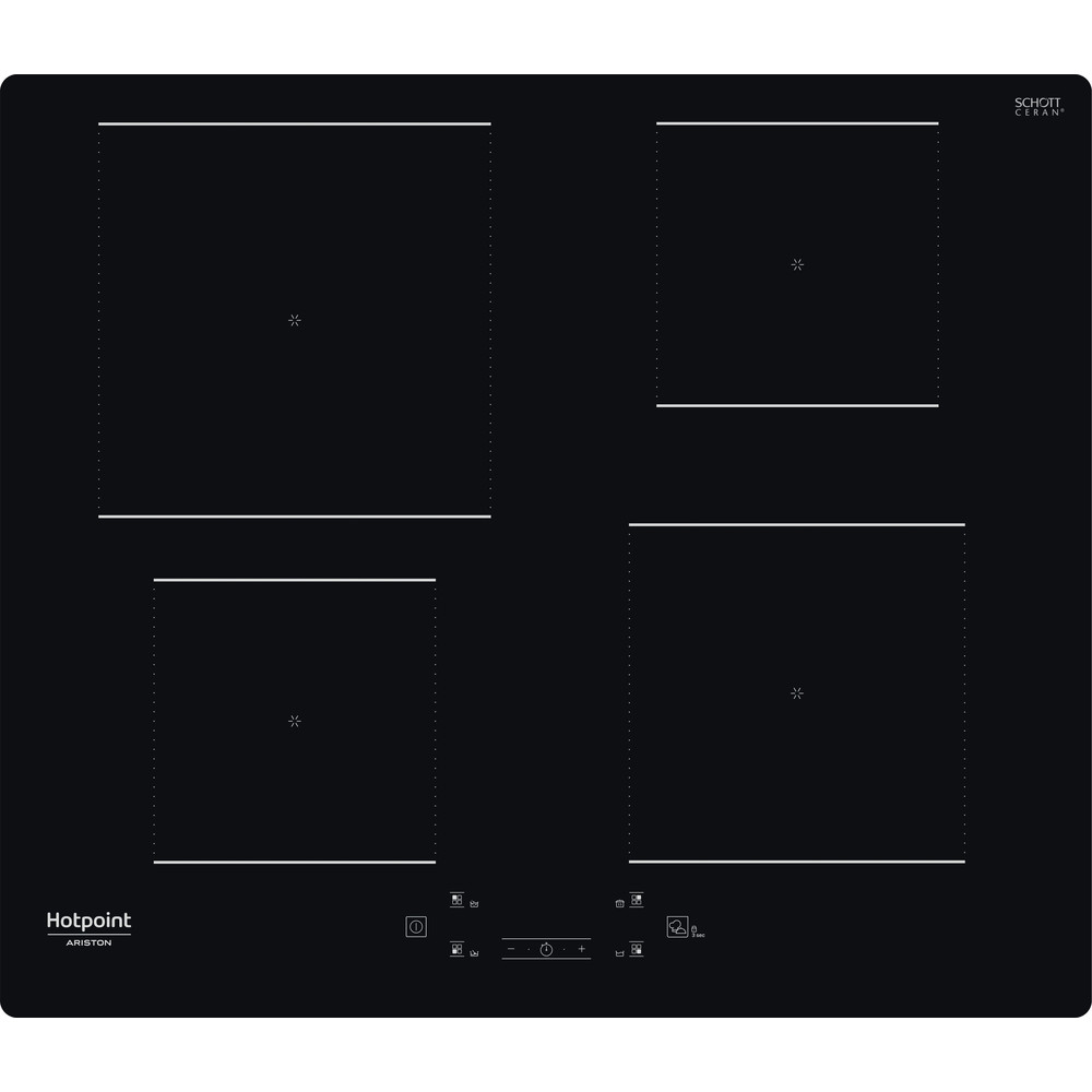 Hotpoint_Ariston Piano cottura HQ 2260S NE Nero Induction vitroceramic Frontal