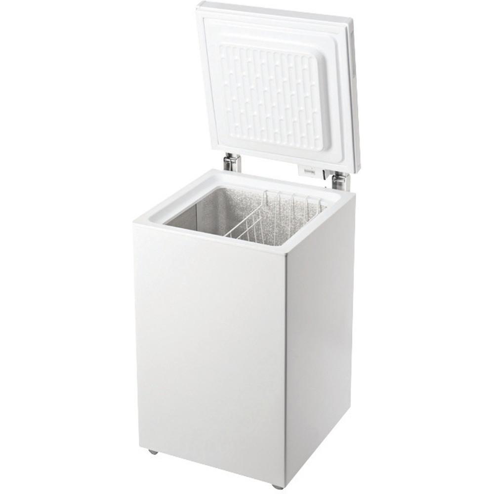 Indesit Congelatore A libera installazione OS 1A 100 2 Bianco Perspective open