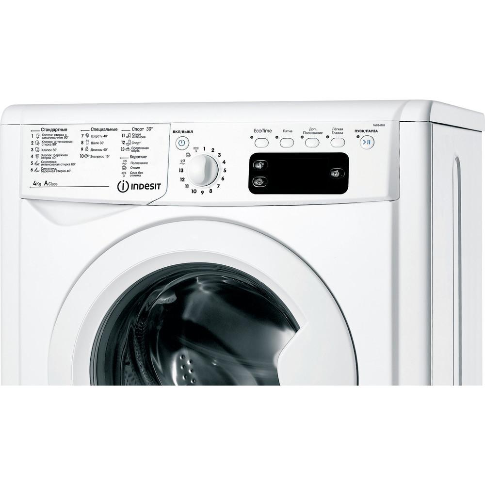 Indesit Стиральная машина Отдельностоящий IWUE 4105 (CIS) Белый Фронтальная загрузка A Control panel