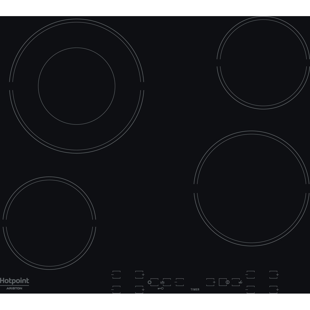 Hotpoint_Ariston Печка HR 615 C Черно Radiant vitroceramic Frontal