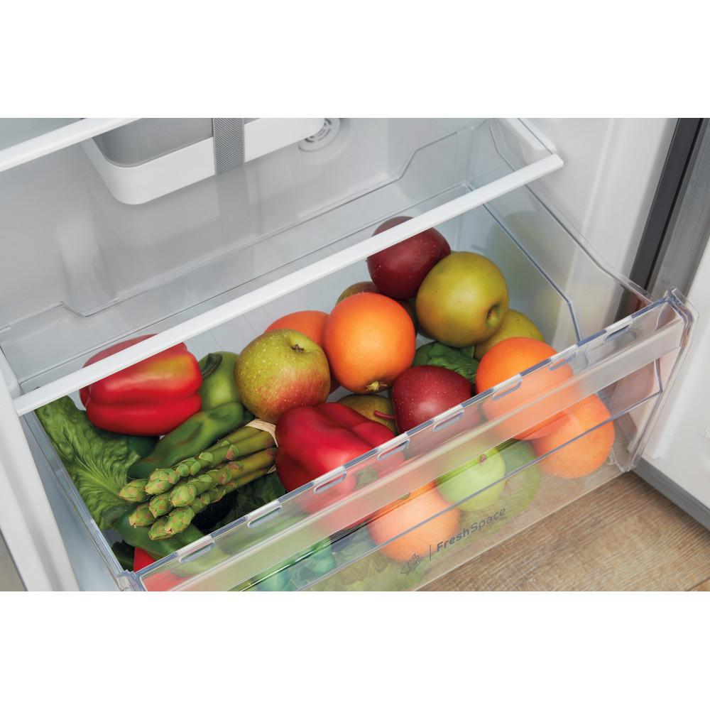 Indesit Kühlschrank Freistehend SI6 1 S Silber Drawer