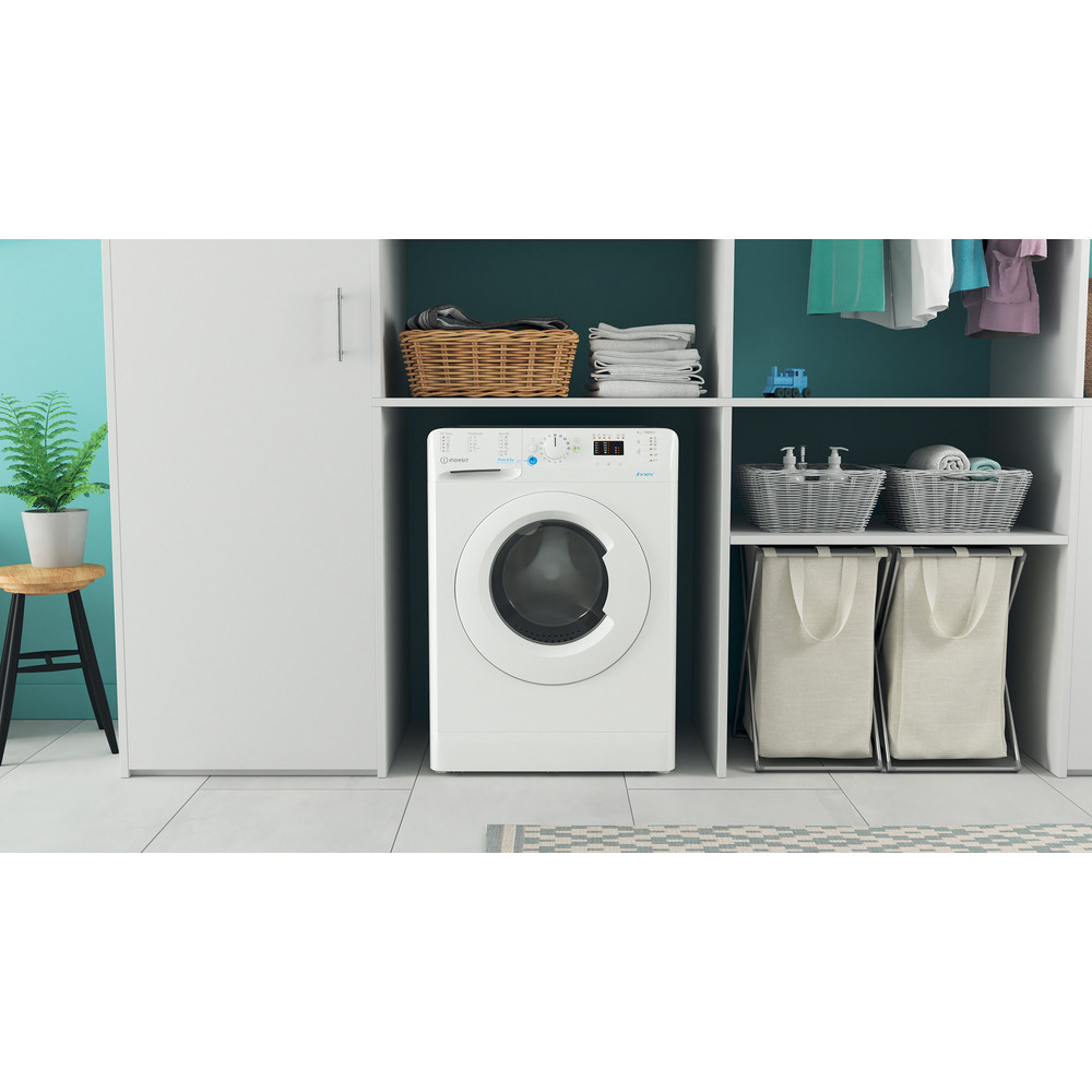 Indesit Πλυντήριο ρούχων Ελεύθερο BWSA 61051 W EU N Λευκό Front loader F Lifestyle frontal