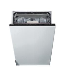 Whirlpool ugradna mašina za pranje sudova: crna boja, uska - WSIP 4O23 PFE