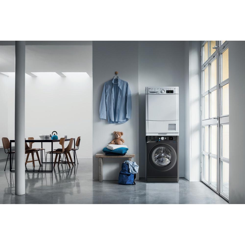 Indesit Washer dryer Free-standing BDE 861483X K UK N Black Front loader Lifestyle frontal