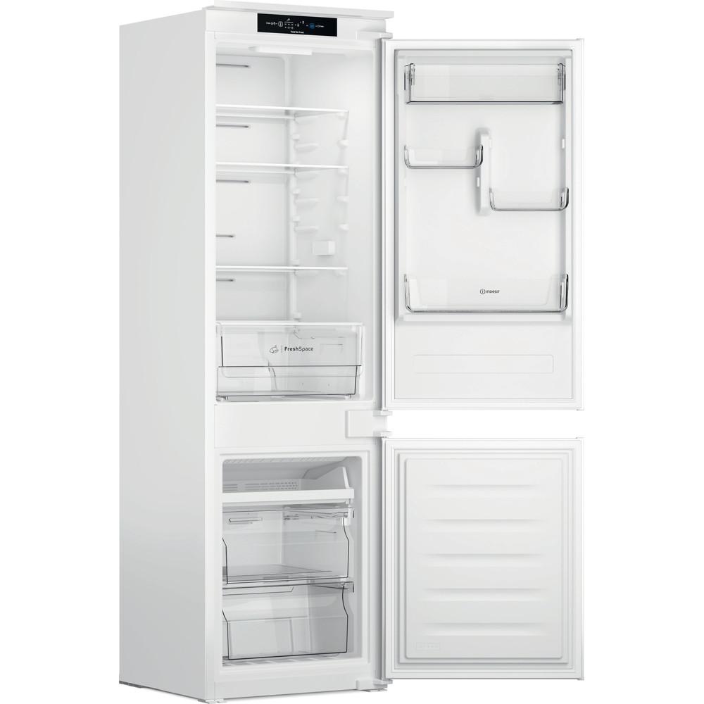 Indesit Réfrigérateur combiné Encastrable INC18 T311 Blanc 2 portes Perspective open