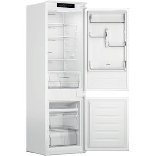 Indesit Комбиниран хладилник с камера Вграден INC18 T311 Бял 2 врати Perspective open