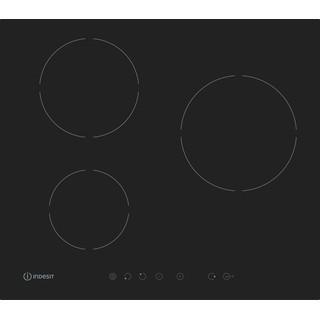 Indesit Table de cuisson IVIA 630 XS C Noir Induction vitroceramic Frontal