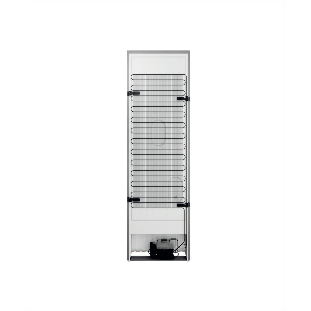 Indesit Combiné réfrigérateur congélateur Pose-libre INFC9 TI22X Inox 2 portes Back / Lateral