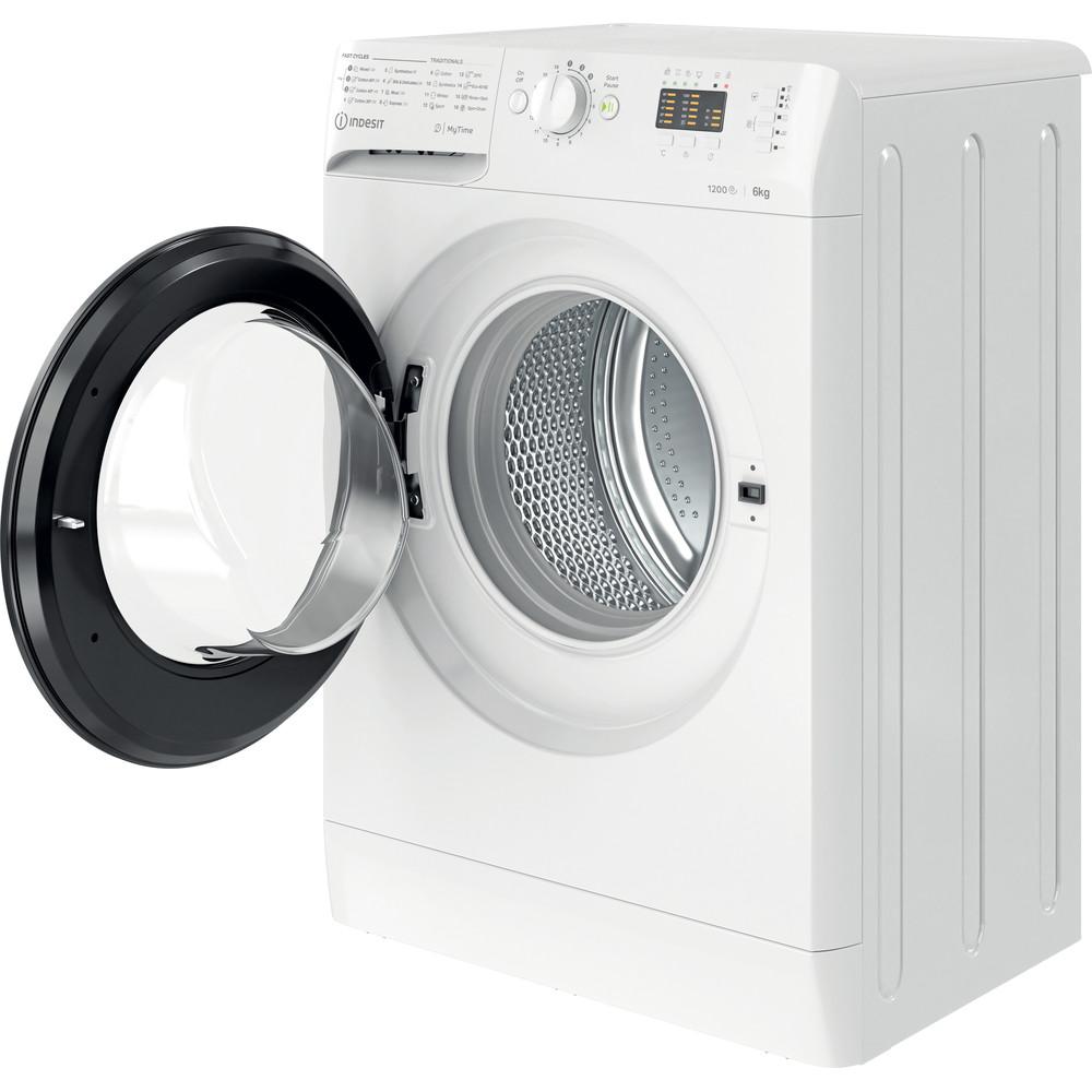 Indsit Maşină de spălat rufe Independent MTWSA 61252 WK EE Alb Încărcare frontală A +++ Perspective open
