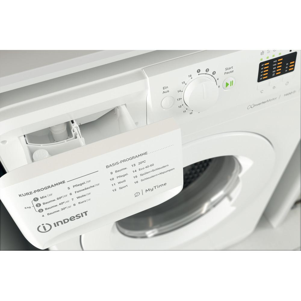 Indesit Waschmaschine Freistehend MTWA 61482E W DE Weiß Frontlader D Drawer