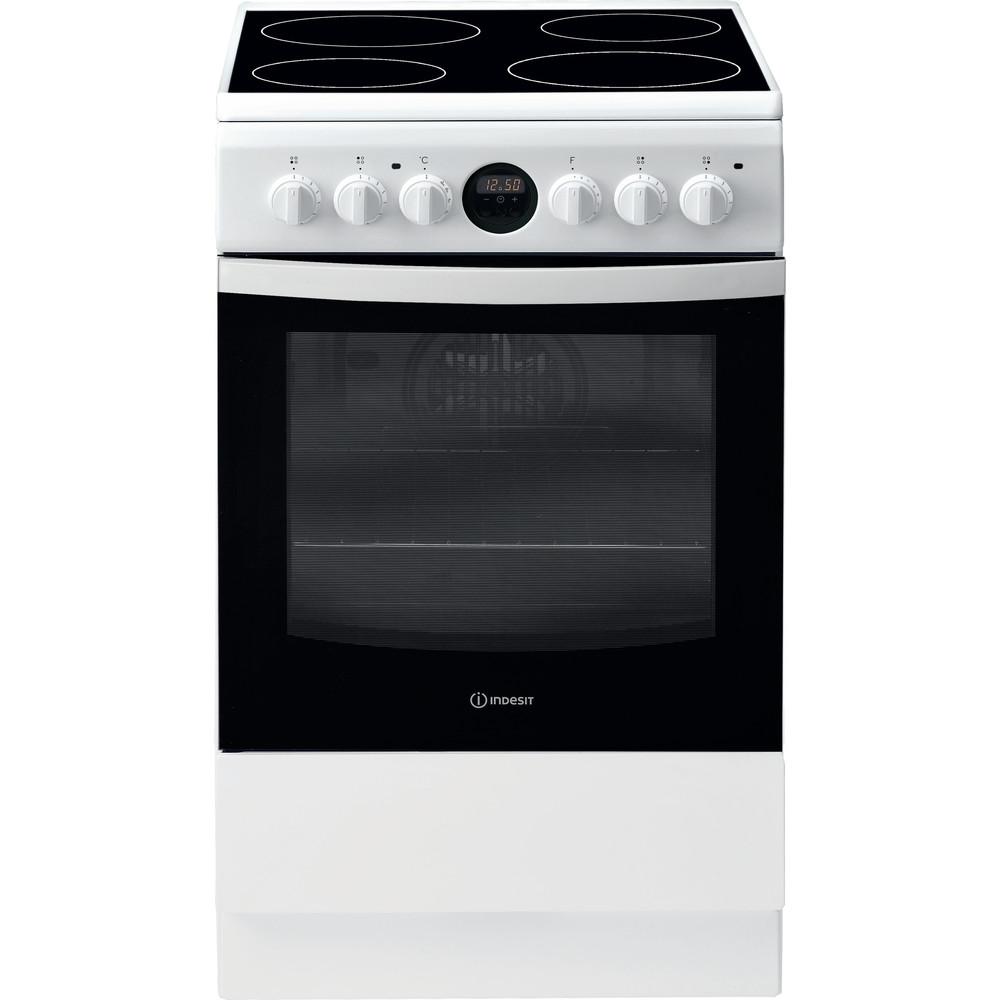 Indesit Cuisinière IS5V5CCW/E Blanc Electrique Frontal