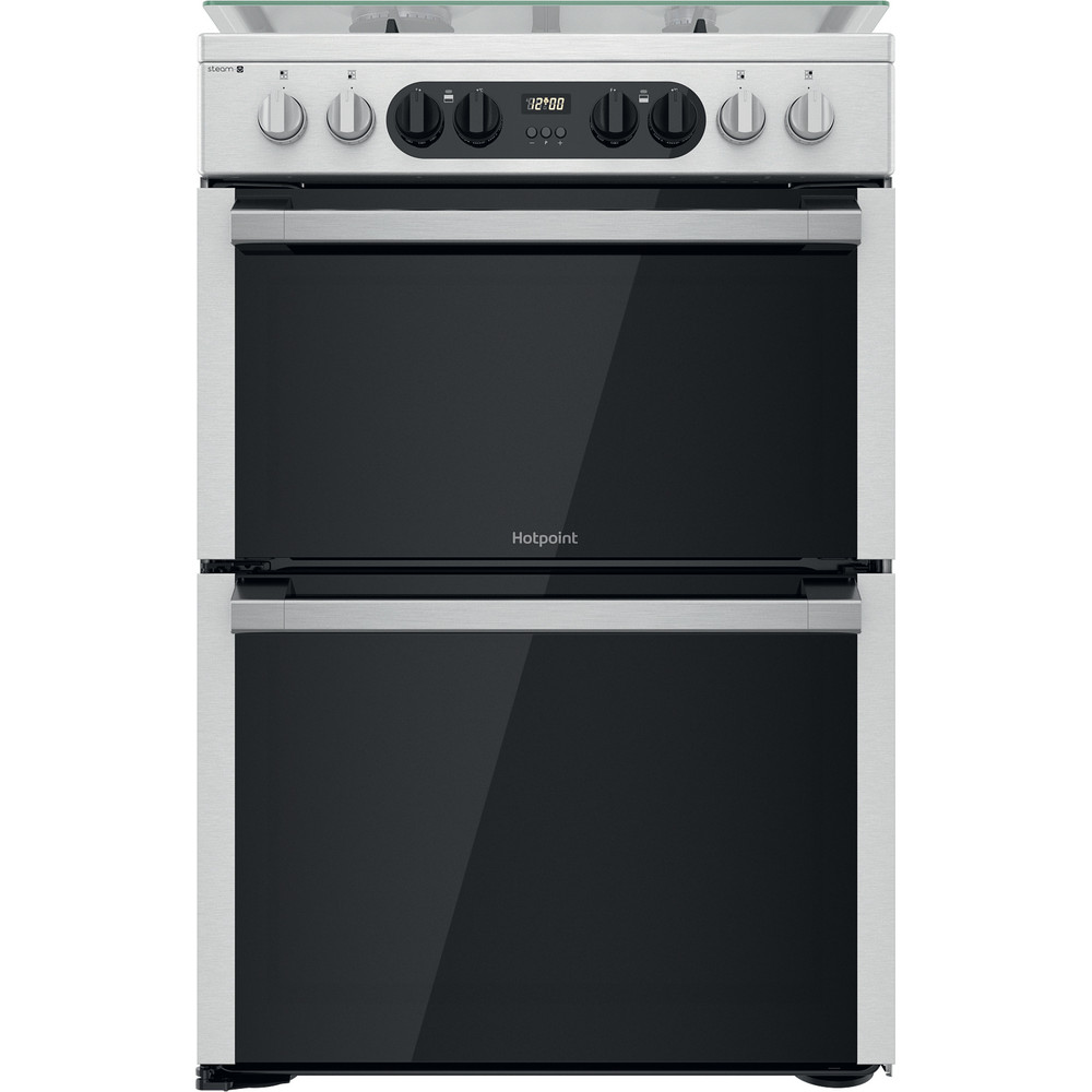 Hotpoint Double Cooker HDM67G8C2CX/UK Inox A Frontal