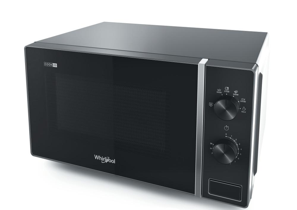 Whirlpool Microwave Samostojni MWP 101 SB Silver Black Mehansko 20 Mikrovalovna pečica 700 Perspective