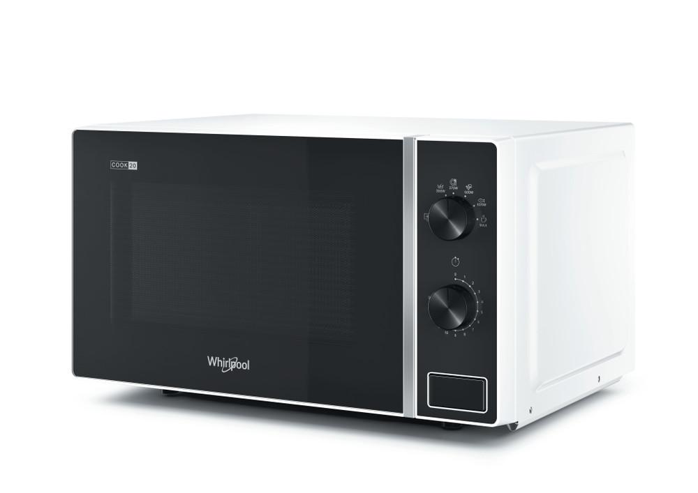 Whirlpool Microwave Samostojni MWP 101 W Bela Mehansko 20 Mikrovalovna pečica 700 Perspective