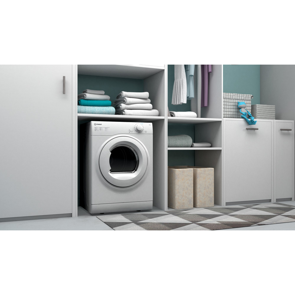 Indesit Dryer I1 D71W UK White Lifestyle perspective
