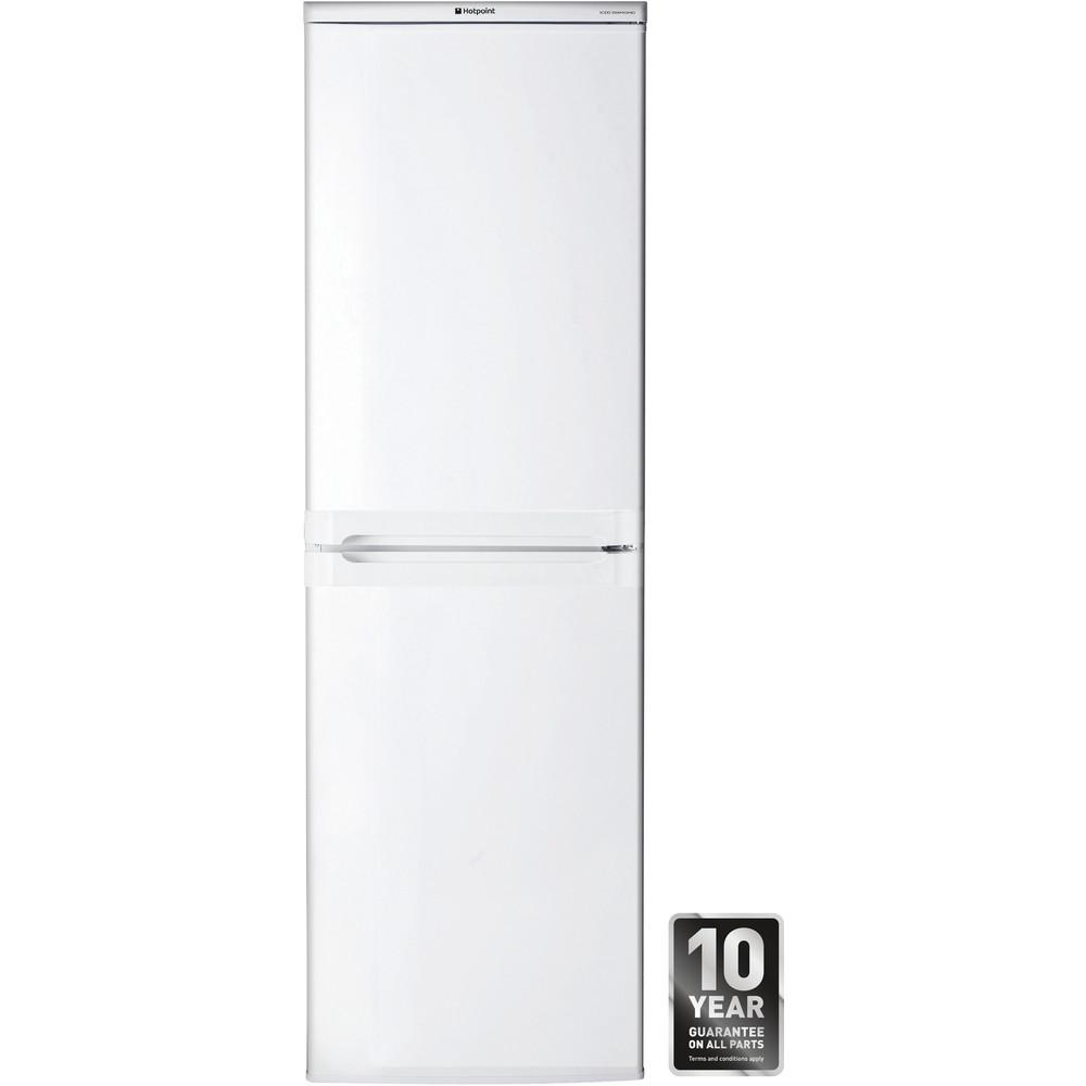 Hotpoint Fridge-Freezer Combination Free-standing HBD 5517 W UK 1 White 2 doors Frontal