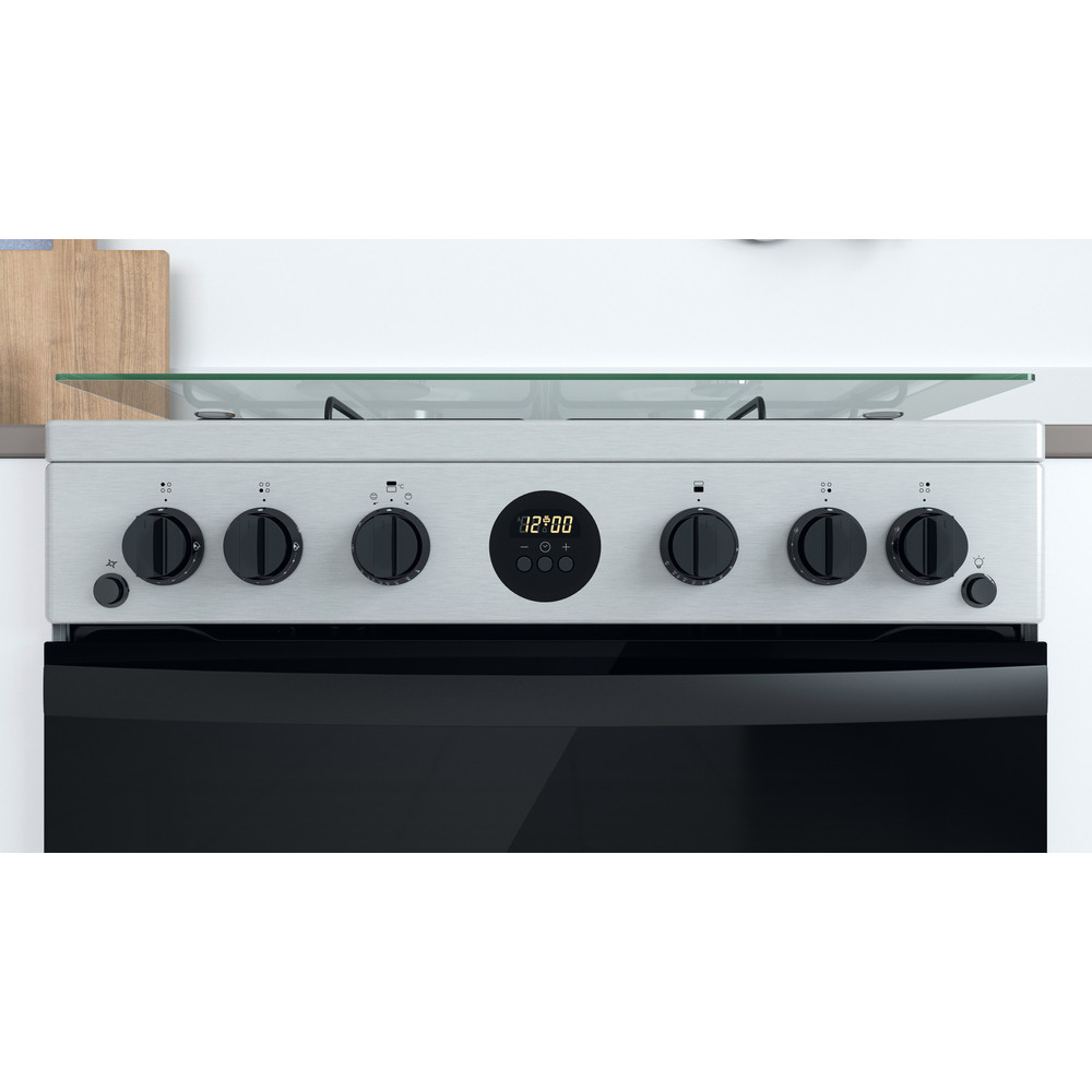 Indesit Double Cooker ID67G0MCX/UK Inox A+ Lifestyle control panel