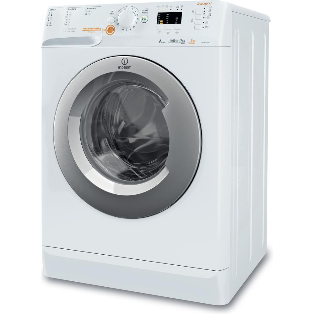 Indesit Pračka se sušičkou Volně stojící XWDA 751480X WSSS EU Bílá Front loader Perspective