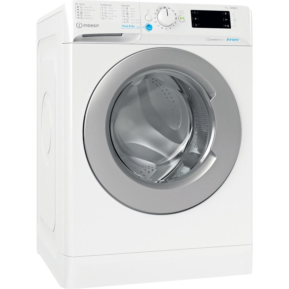 Indesit Πλυντήριο ρούχων Ελεύθερο BWE 71283X WS EE N Λευκό Front loader D Perspective