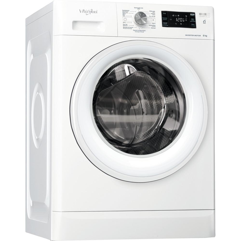 Whirlpool vrijstaande wasmachine: 8 kg - FFBBE 8638 WV F