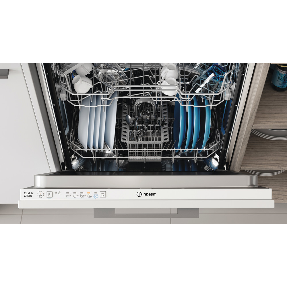 Indesit Посудомоечная машина Встраиваемый DIE 2B19 Full-integrated A Lifestyle control panel