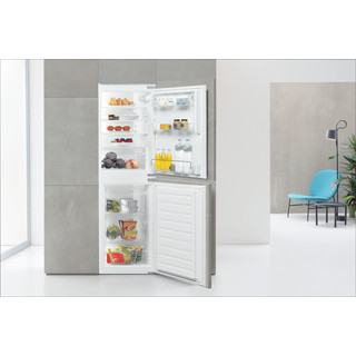 Whirlpool Fridge-Freezer Combination Built-in ART 4550 SF1 White 2 doors Lifestyle frontal open