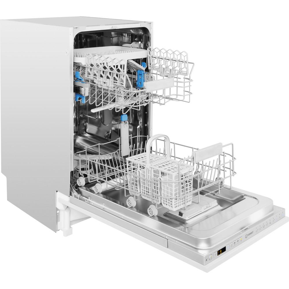 Indesit Máquina de lavar loiça Encastre DSIO 3T224 Z E Encastre total A++ Perspective open