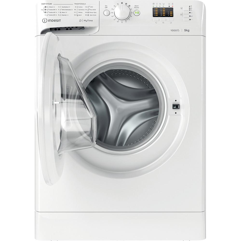 Indesit Pračka Volně stojící MTWSA 51051 W EE Bílá Front loader F Frontal open