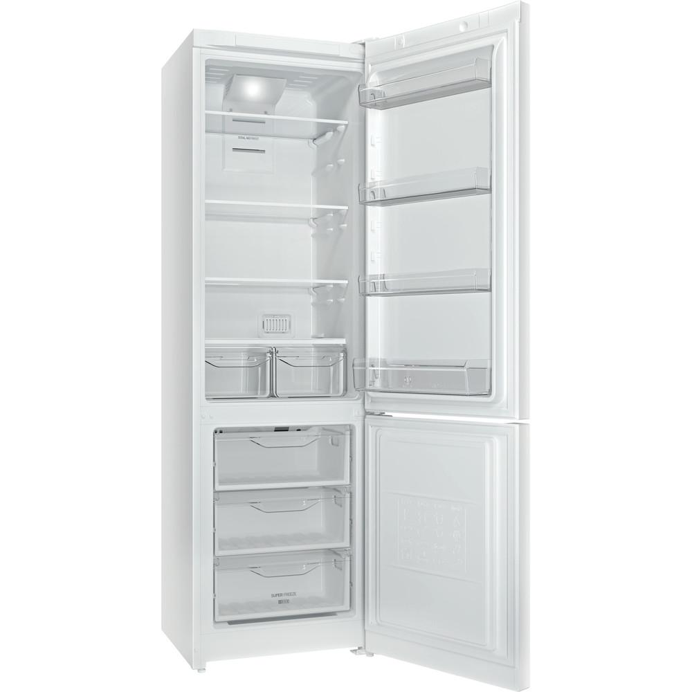 Indesit Холодильник с морозильной камерой Отдельностоящий DFN 20 D Белый 2 doors Perspective_Open
