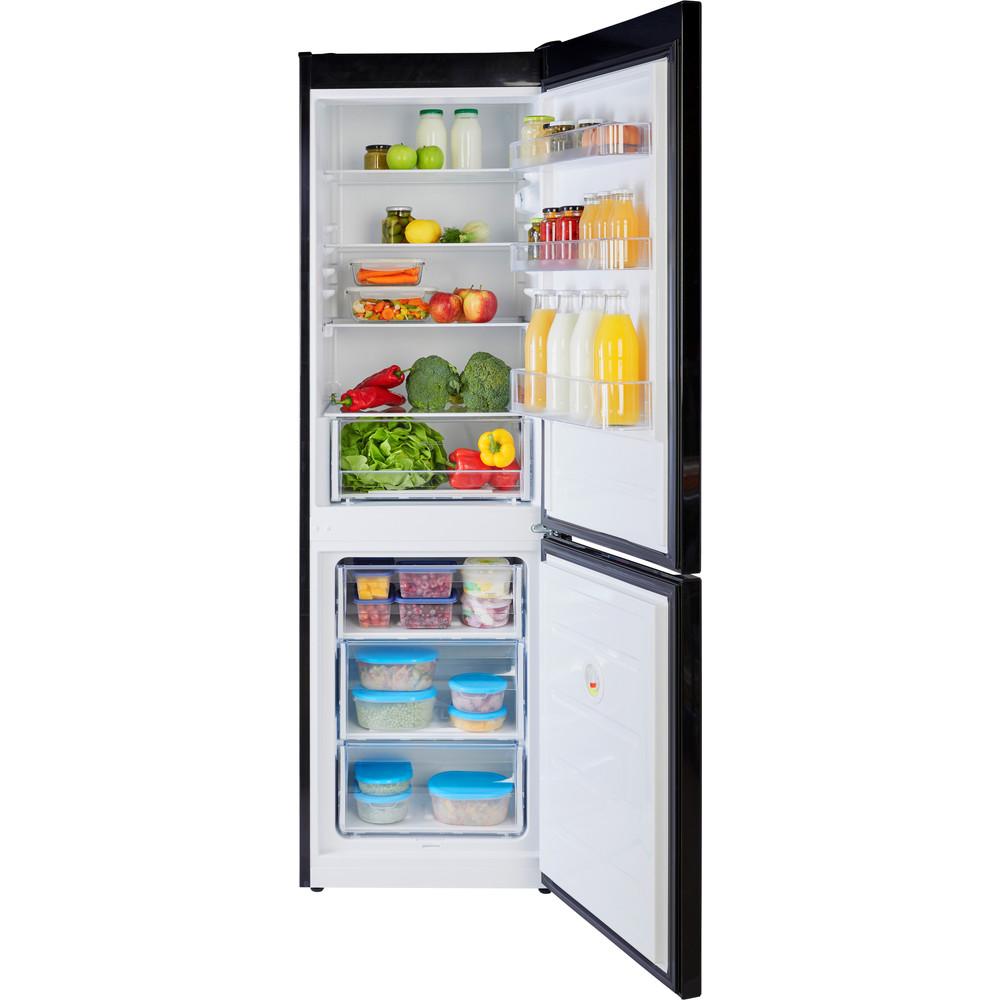 Indesit Réfrigérateur combiné Pose-libre LR8 S2 K B Noir 2 portes Frontal open
