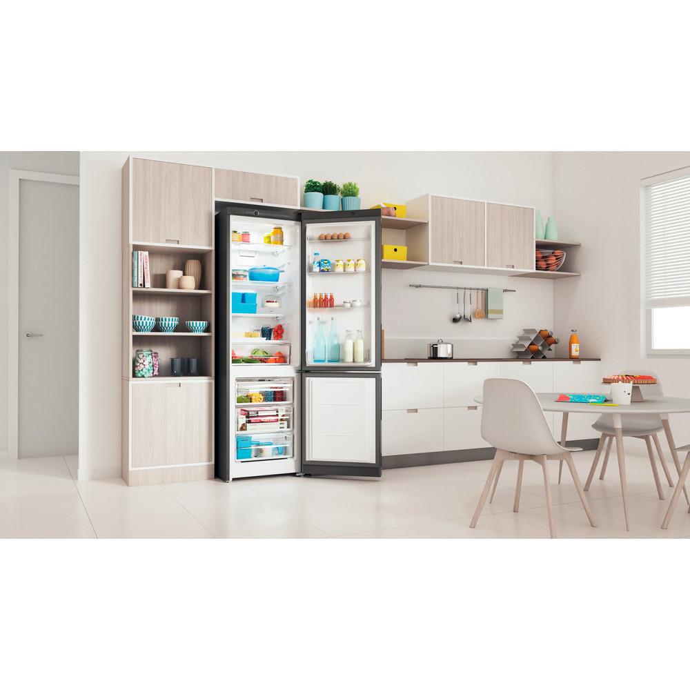 Indesit Холодильник с морозильной камерой Отдельностоящий ITR 4200 S Серебристый 2 doors Lifestyle perspective open