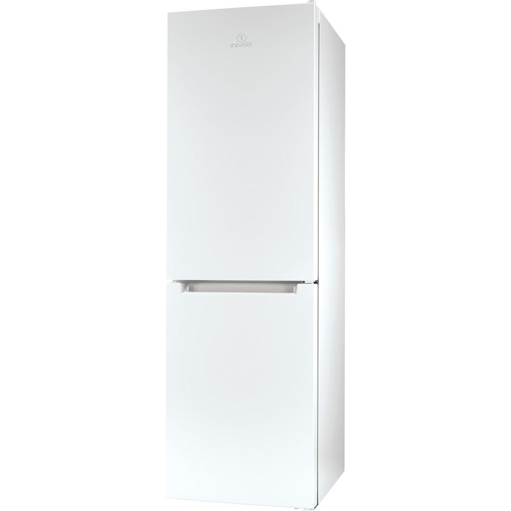 Indesit Hűtő/fagyasztó kombináció Szabadonálló LI8 SN2E W Fehér 2 doors Perspective