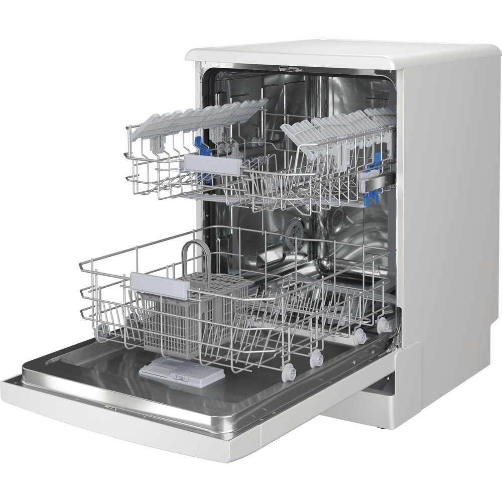 Indesit Dishwasher Free-standing DFC 2C24 UK Free-standing E Perspective open