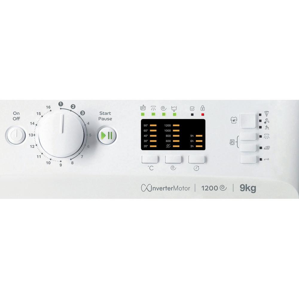 Indsit Maşină de spălat rufe Independent MTWA 91283 W EE Alb Încărcare frontală D Control panel