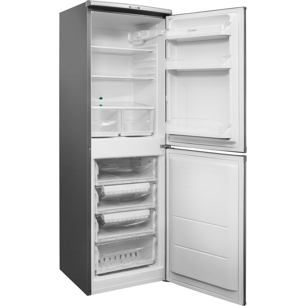 Indesit Комбиниран хладилник с камера Свободностоящи CAA 55 NX Инокс 2 врати Perspective open