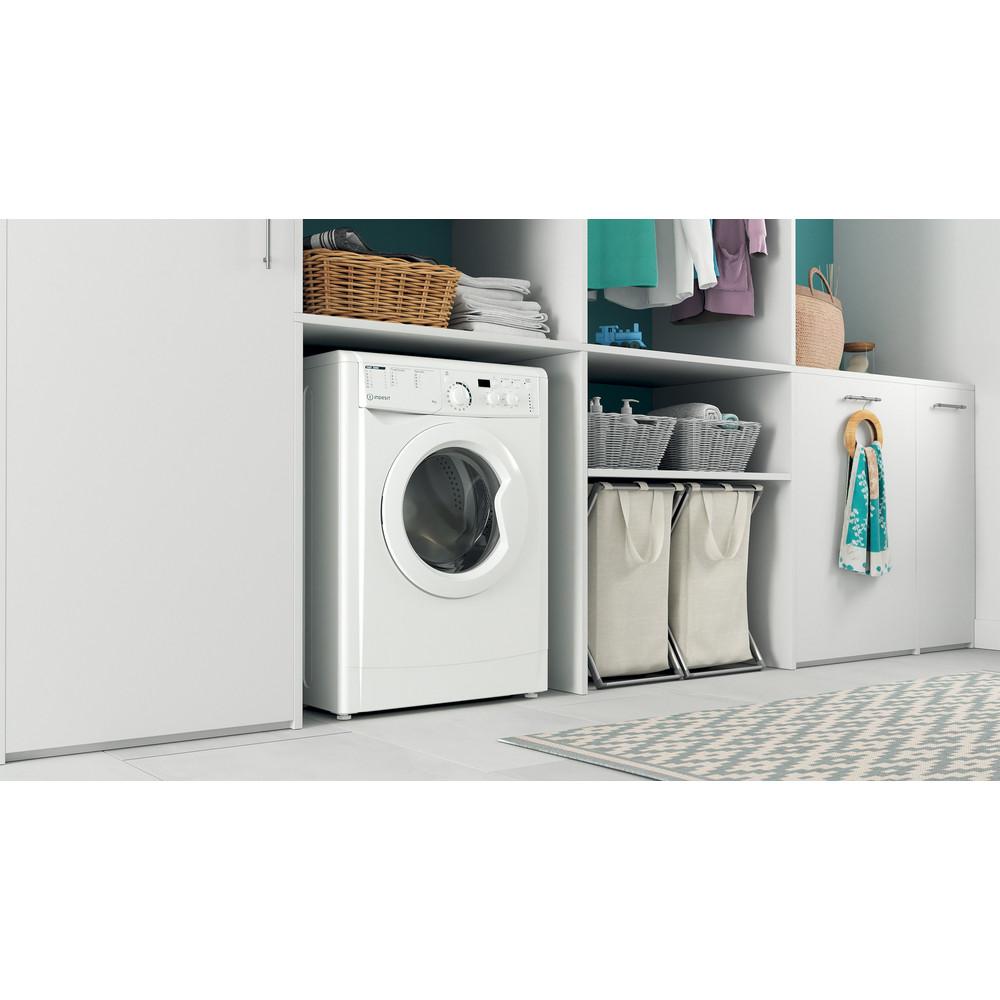 """""""Indesit"""" Skalbimo mašina Laisvai pastatoma EWUD 41051 W EU N Balta Pakraunama iš priekio F Lifestyle perspective"""