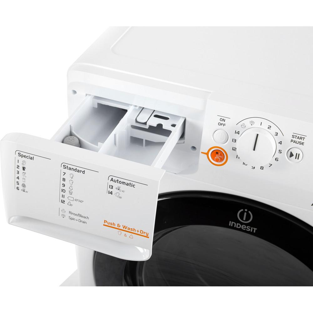 Indesit Vaskemaskin med tørketrommel Frittstående XWDE 1071481XWKKK EU Hvit Front loader Drawer