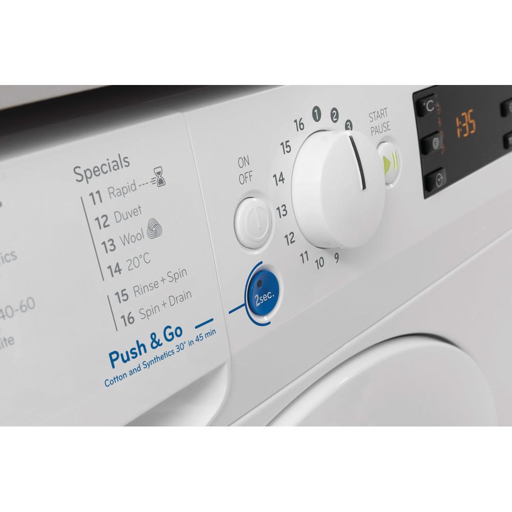 Indesit Washing machine Free-standing BWE 101683X W UK N White Front loader D Lifestyle detail
