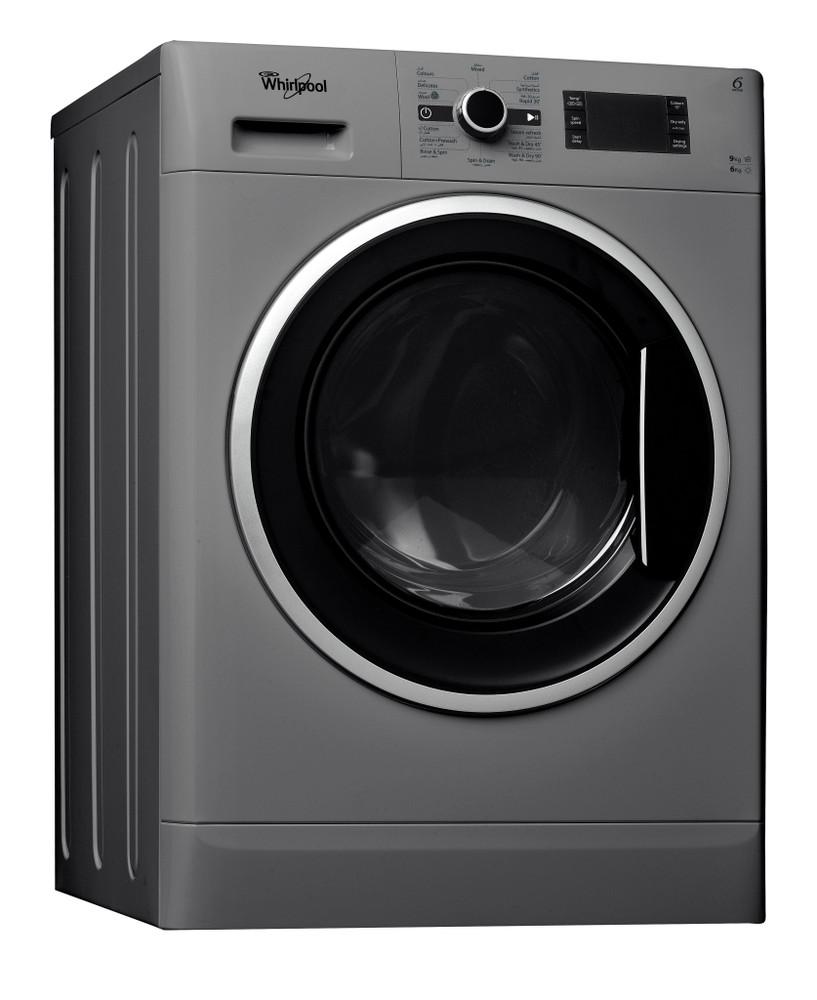 Whirlpool Washer dryer مفرد WWDC 9614 S Silver محمل أمامي Perspective