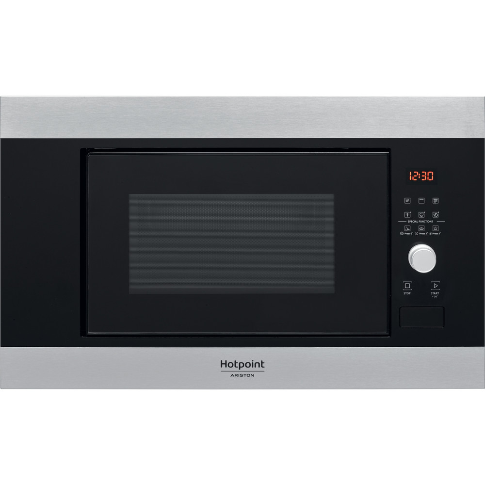 Hotpoint_Ariston Micro-ondas Encastre MF20G IX HA Inox Eletrónico 20 MO + Função Grill 800 Frontal