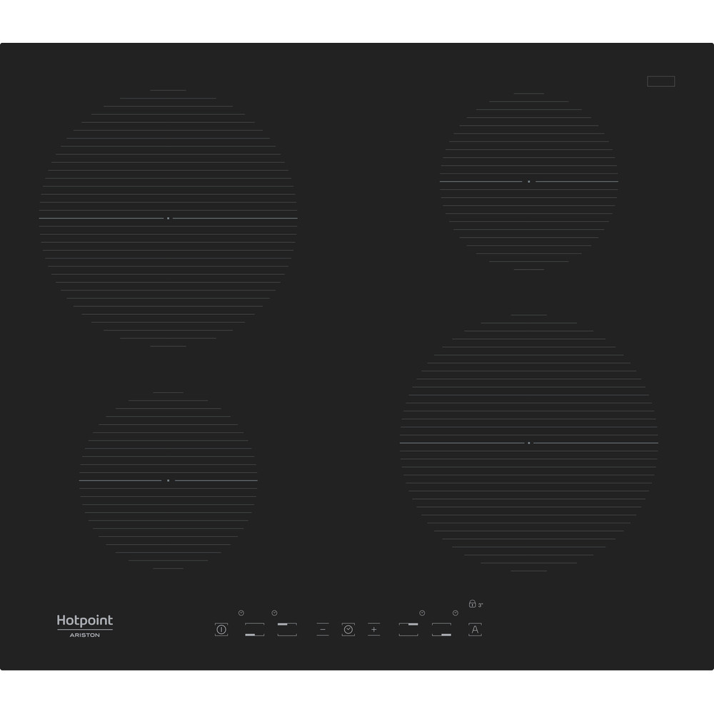 Hotpoint_Ariston Варочная поверхность IKIA 640 C Черный Induction vitroceramic Frontal