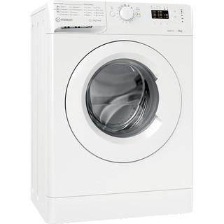 Indsit Maşină de spălat rufe Independent MTWSA 61252 W EE Alb Încărcare frontală A +++ Perspective