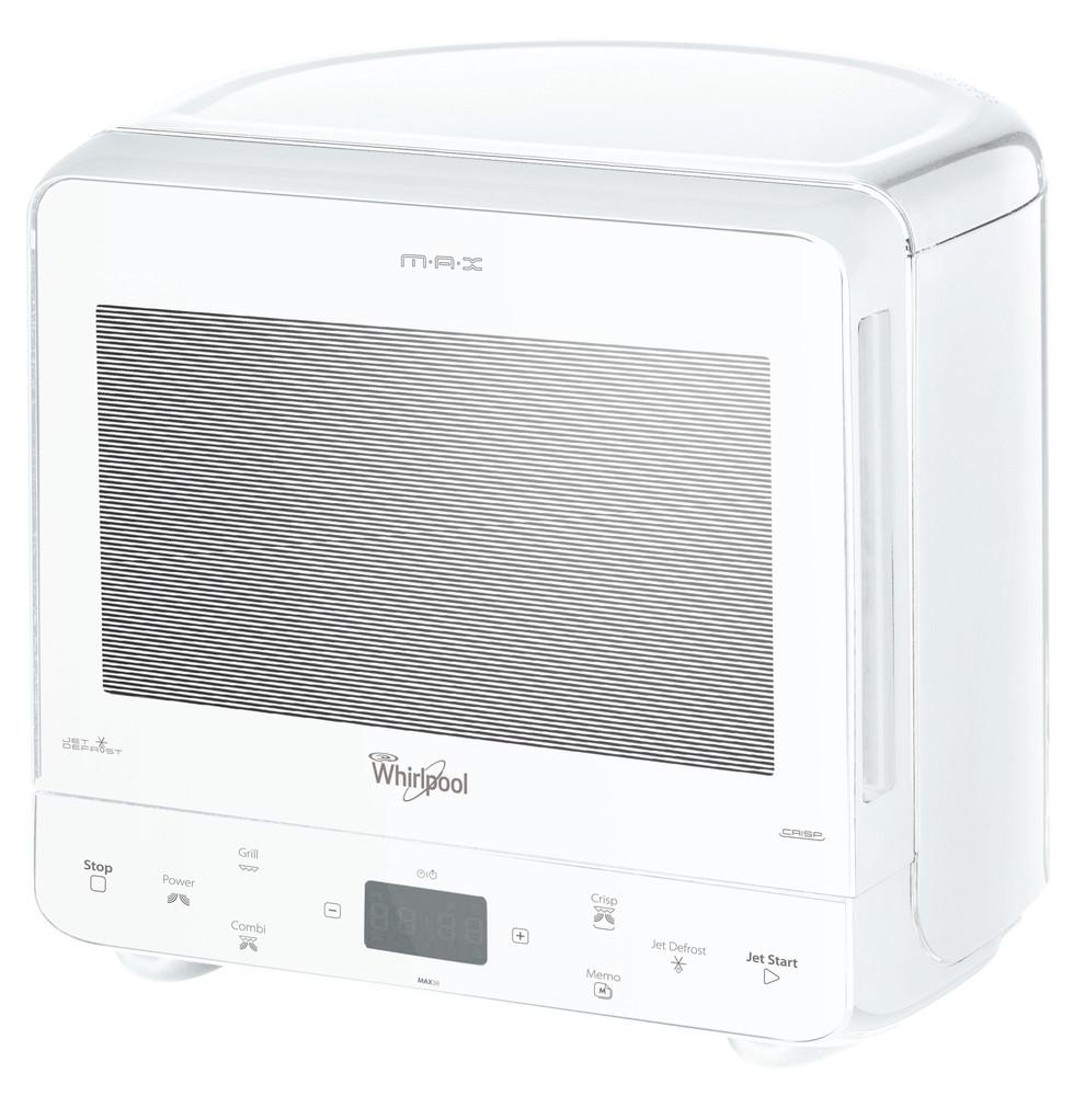 Whirlpool Mikroaaltouuni Vapaasti sijoitettava MAX 38 FW Valkoinen Elektroninen 13 Mikroaaltoyhdistelmäuuni 700 Perspective