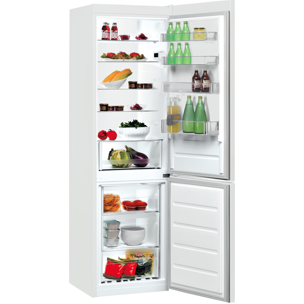 Indesit Külmik-sügavkülmik Eraldiseisev LI9 S1E W Üleni valge 2 doors Perspective open