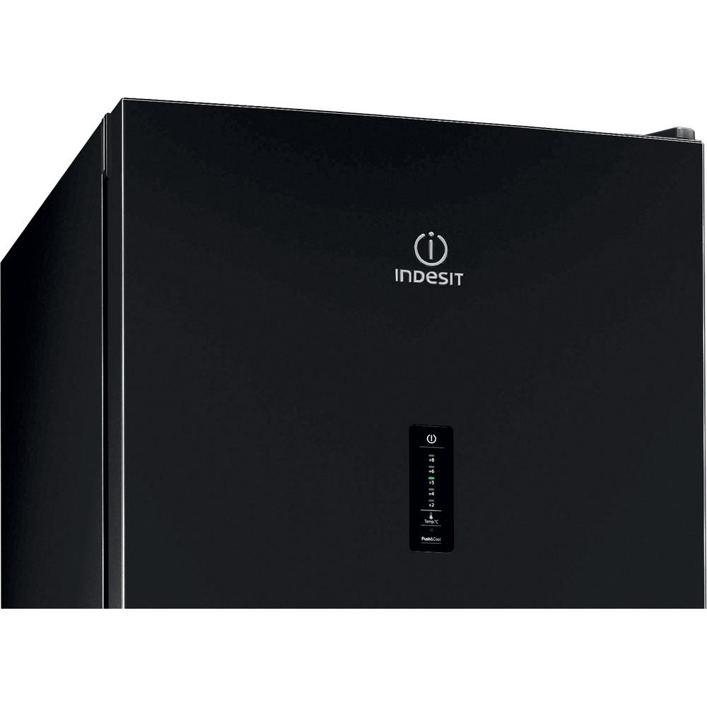 Indesit Холодильник с морозильной камерой Отдельностоящий ITF 120 B Черный 2 doors Control panel